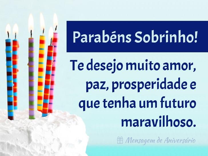Feliz Aniversário Sobrinho Mensagem De Aniversário